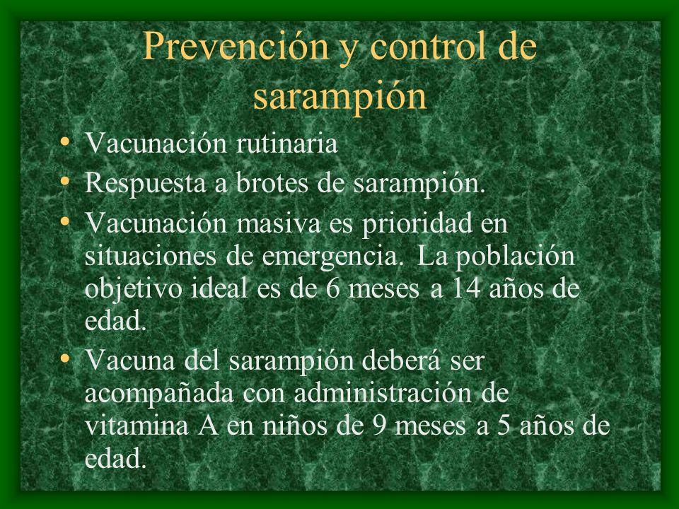 Prevención y control de sarampión