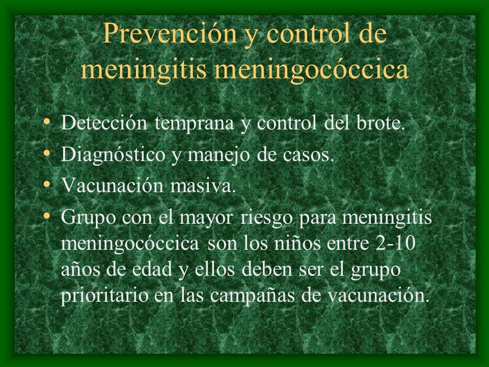 Prevención y control de meningitis meningocóccica