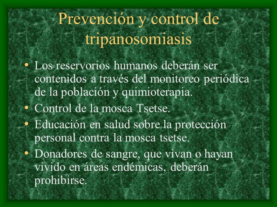 Prevención y control de tripanosomiasis