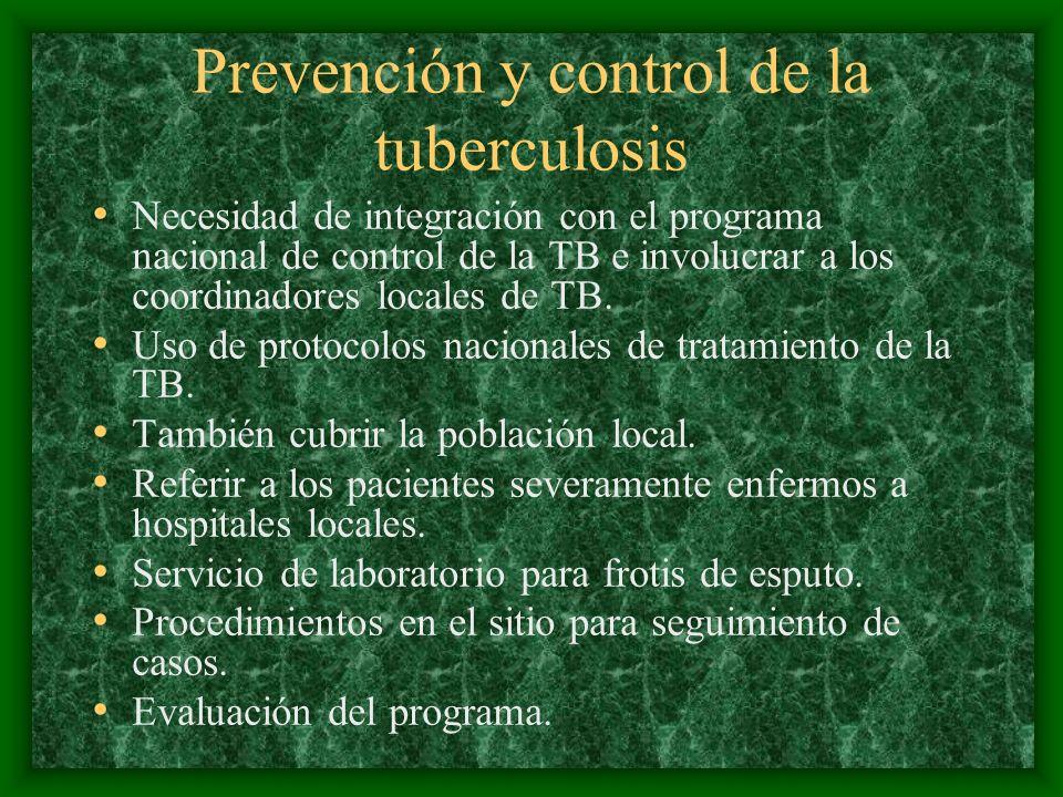 Prevención y control de la tuberculosis
