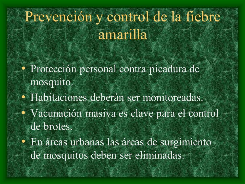 Prevención y control de la fiebre amarilla