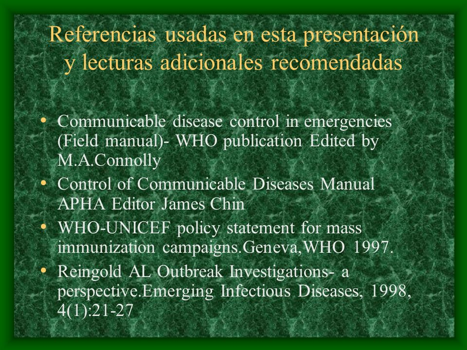 Referencias usadas en esta presentación y lecturas adicionales recomendadas