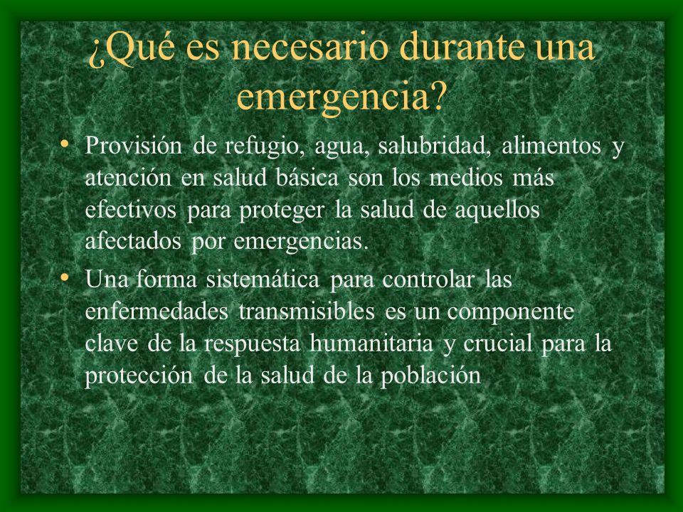 ¿Qué es necesario durante una emergencia