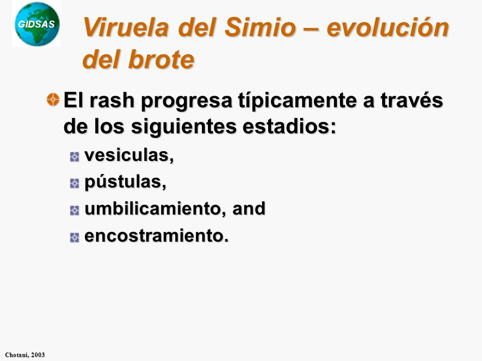 Viruela del Simio – evolución del brote