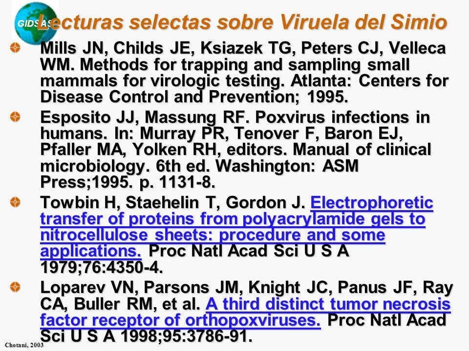 Lecturas selectas sobre Viruela del Simio
