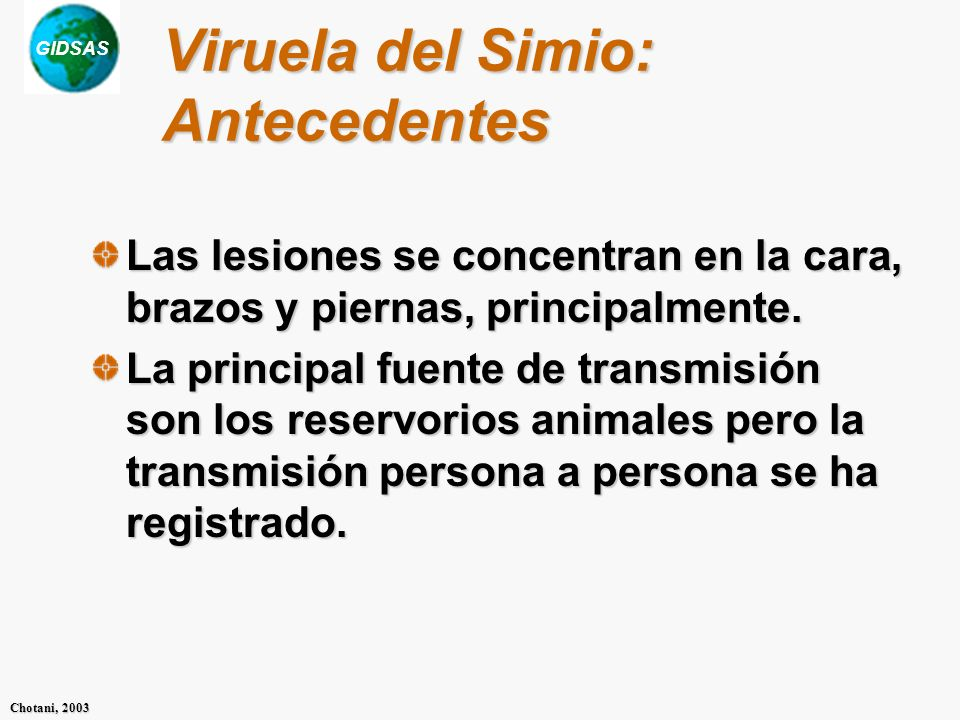 Viruela del Simio: Antecedentes