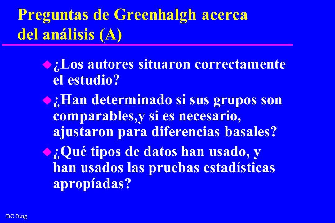 Preguntas de Greenhalgh acerca del análisis (A)