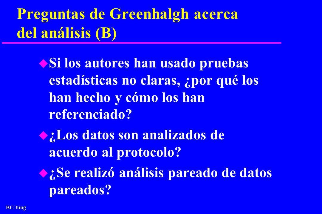 Preguntas de Greenhalgh acerca del análisis (B)