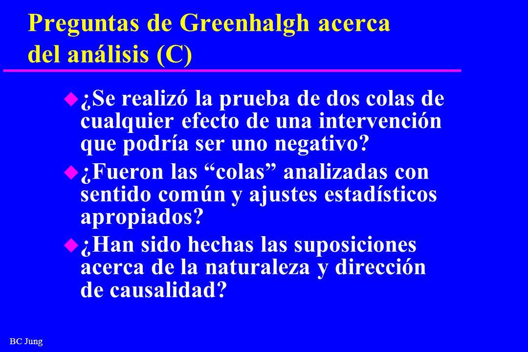 Preguntas de Greenhalgh acerca del análisis (C)
