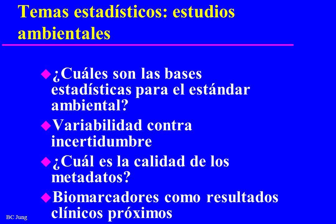 Temas estadísticos: estudios ambientales