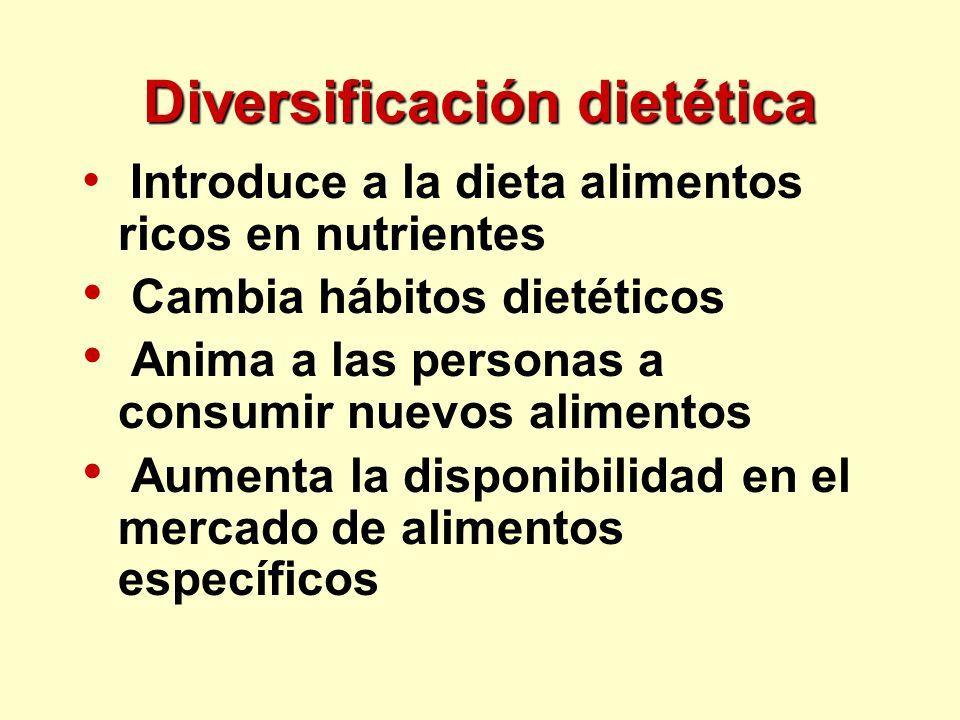 Diversificación dietética