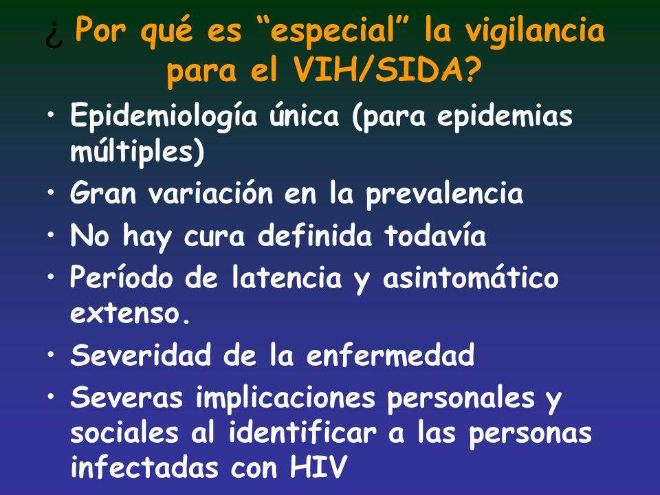 ¿ Por qué es especial la vigilancia para el VIH/SIDA
