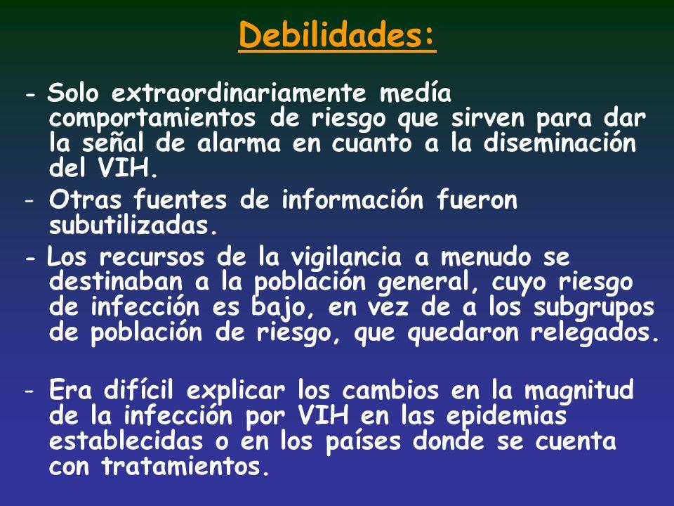 Debilidades: Otras fuentes de información fueron subutilizadas.