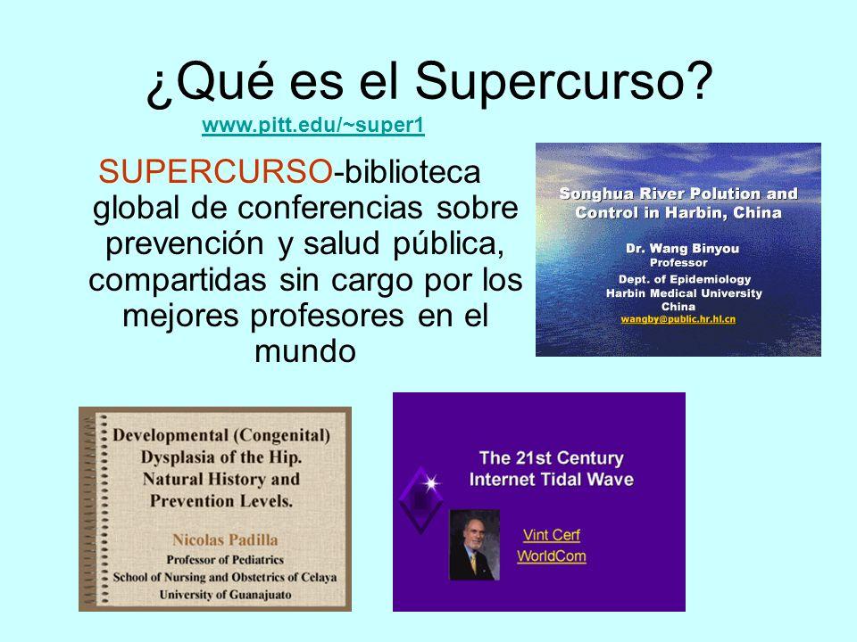 ¿Qué es el Supercurso www.pitt.edu/~super1.
