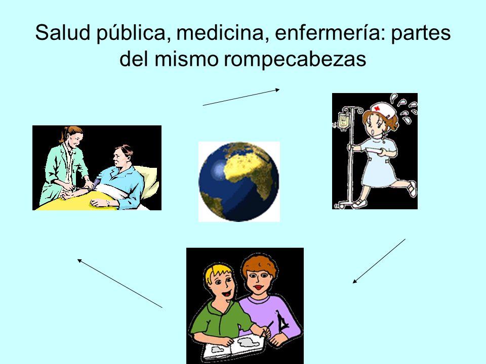 Salud pública, medicina, enfermería: partes del mismo rompecabezas