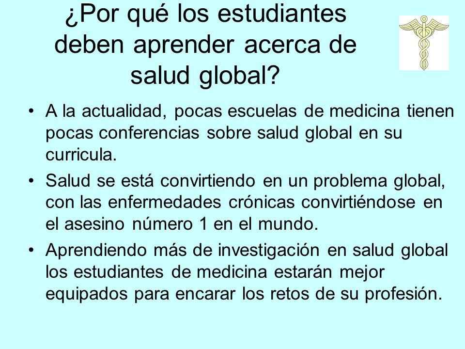 ¿Por qué los estudiantes deben aprender acerca de salud global