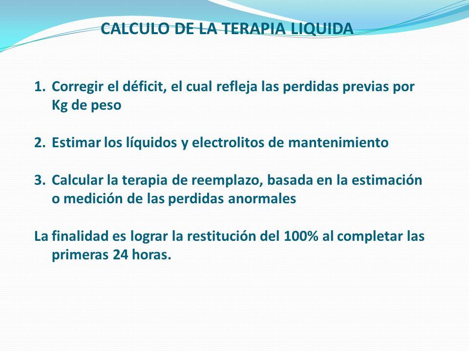 CALCULO DE LA TERAPIA LIQUIDA