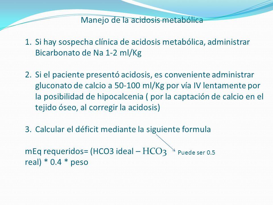 Manejo de la acidosis metabólica