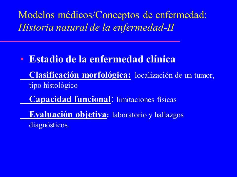 Estadio de la enfermedad clínica