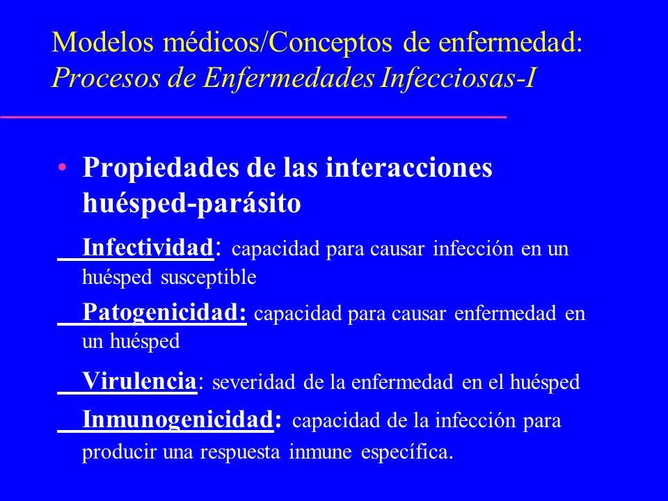 Propiedades de las interacciones huésped-parásito