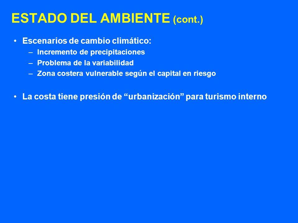 ESTADO DEL AMBIENTE (cont.)