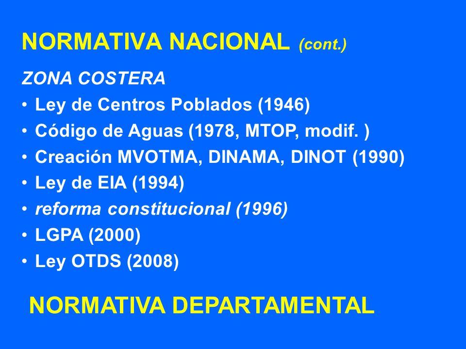 NORMATIVA NACIONAL (cont.)