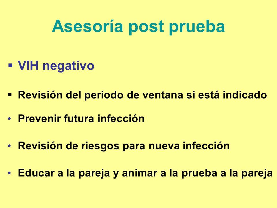 Asesoría post prueba VIH negativo