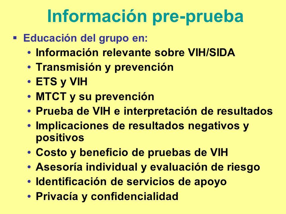 Información pre-prueba