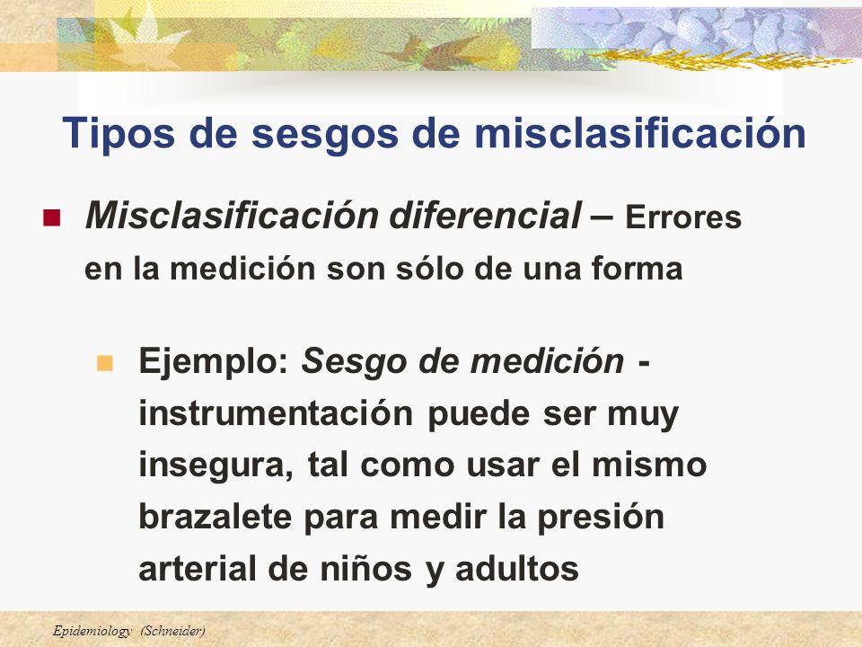 Tipos de sesgos de misclasificación
