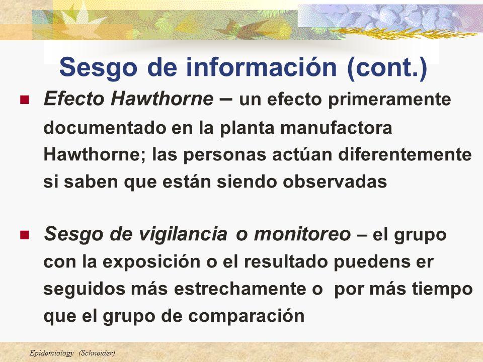 Sesgo de información (cont.)