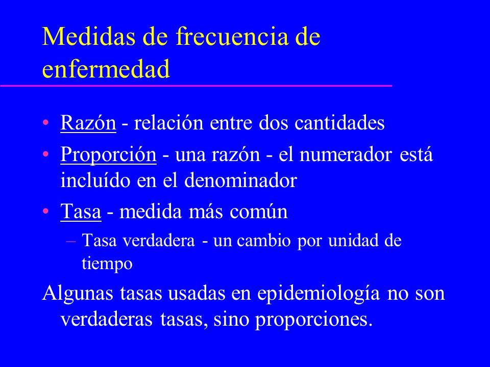 Medidas de frecuencia de enfermedad