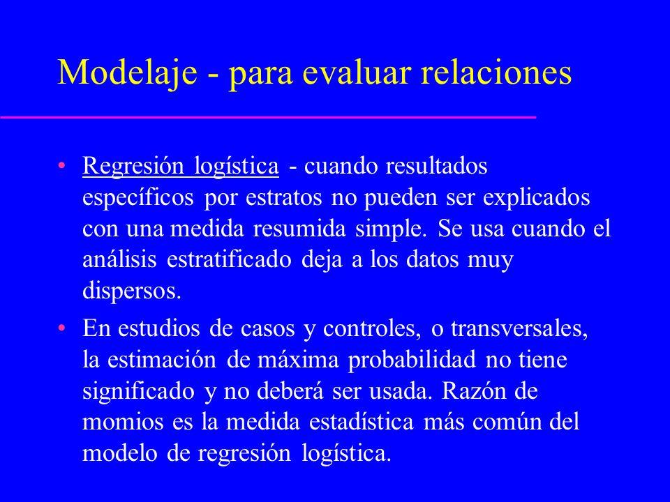 Modelaje - para evaluar relaciones