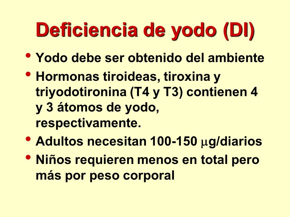 Deficiencia de yodo (DI)