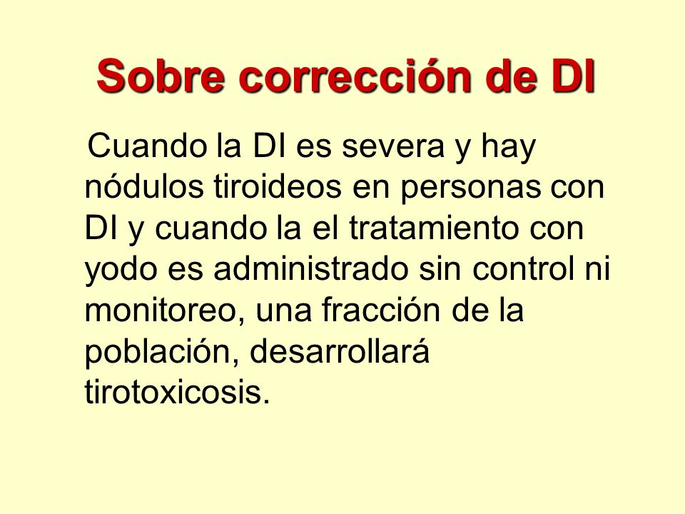 Sobre corrección de DI