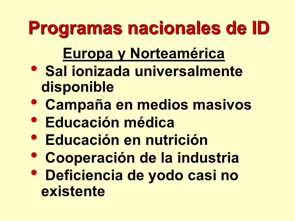 Programas nacionales de ID