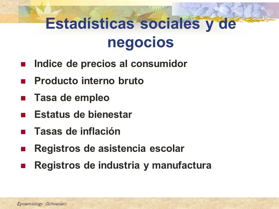 Estadísticas sociales y de negocios