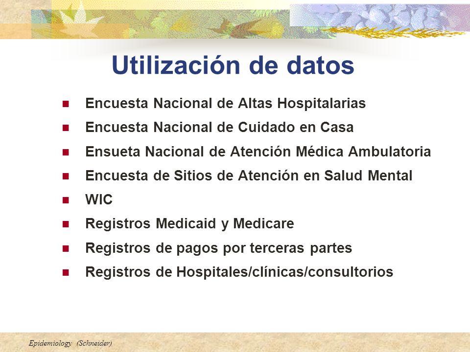 Utilización de datos Encuesta Nacional de Altas Hospitalarias