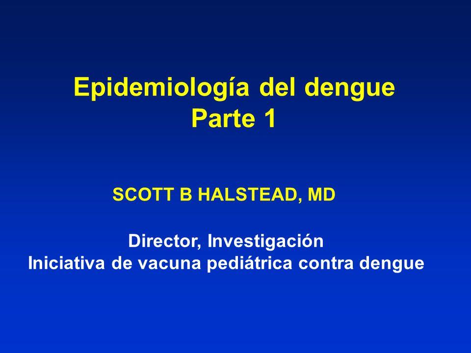 Epidemiología del dengue Parte 1