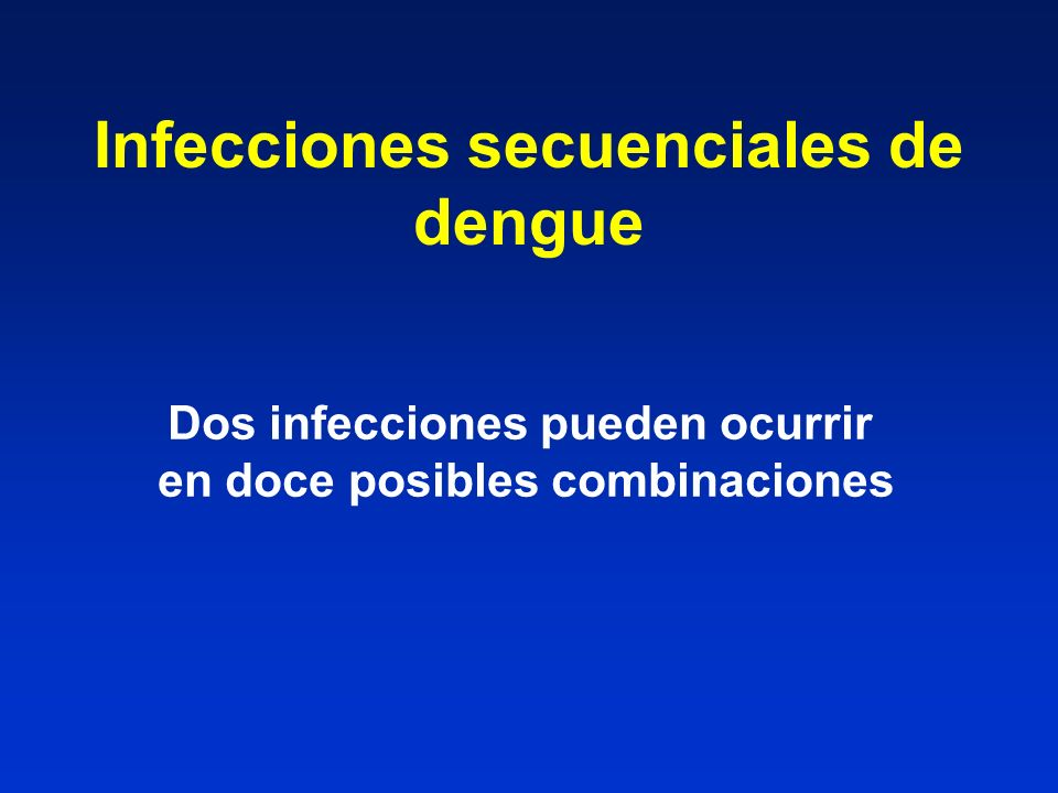 Infecciones secuenciales de dengue