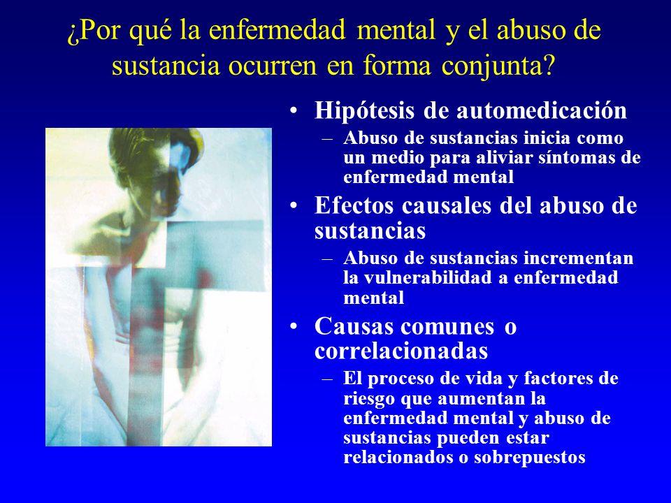 ¿Por qué la enfermedad mental y el abuso de sustancia ocurren en forma conjunta