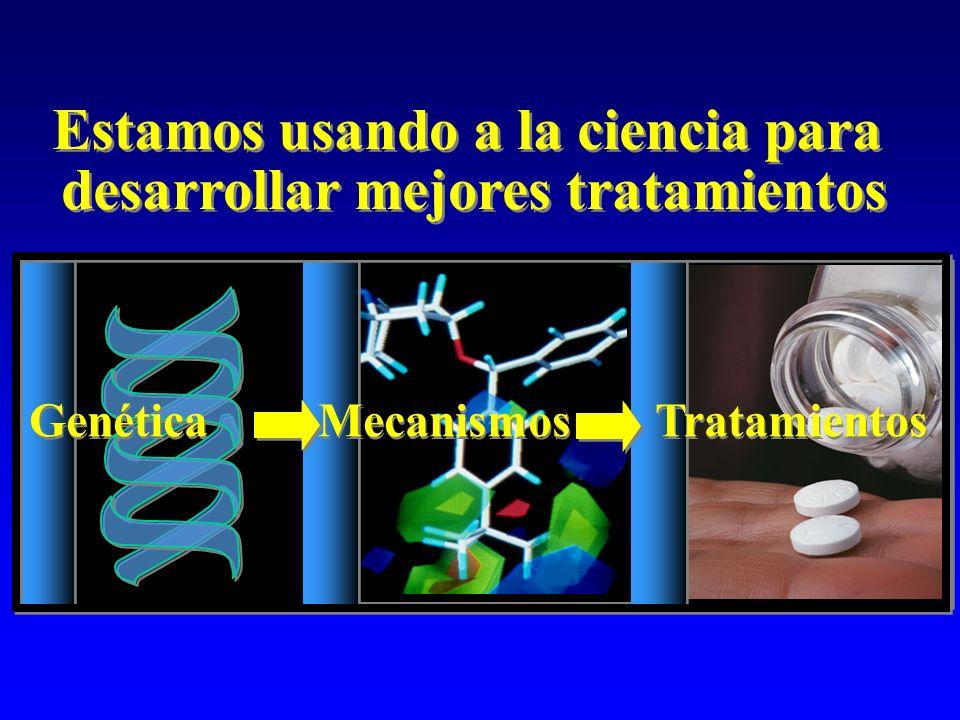 Estamos usando a la ciencia para desarrollar mejores tratamientos