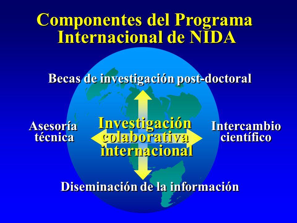 Componentes del Programa Internacional de NIDA