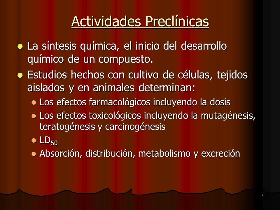 Actividades Preclínicas