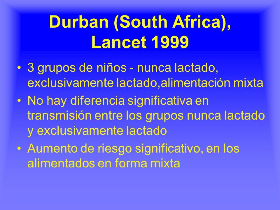 Durban (South Africa), Lancet 1999