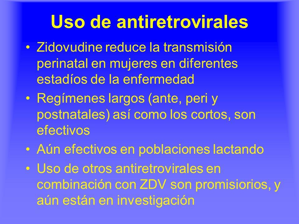 Uso de antiretrovirales