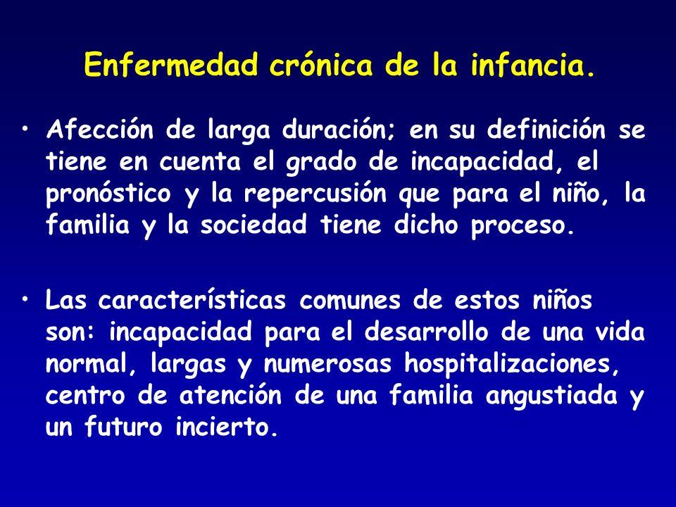 Enfermedad crónica de la infancia.