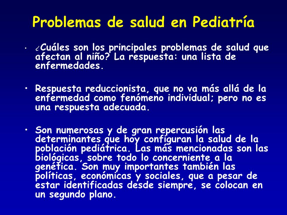 Problemas de salud en Pediatría