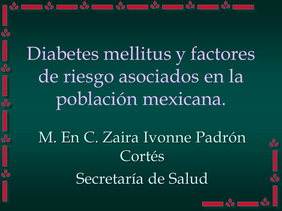 M. En C. Zaira Ivonne Padrón Cortés Secretaría de Salud