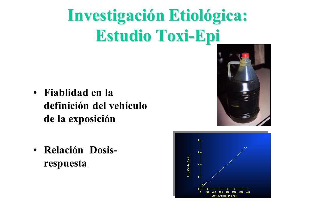 Investigación Etiológica: Estudio Toxi-Epi
