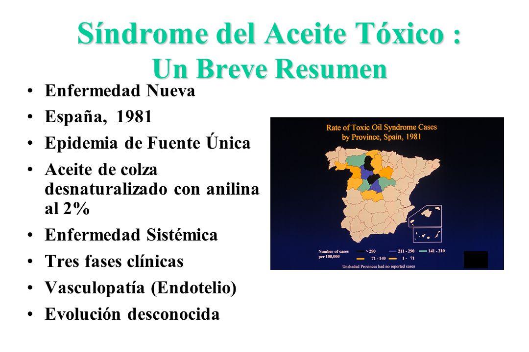 Síndrome del Aceite Tóxico : Un Breve Resumen